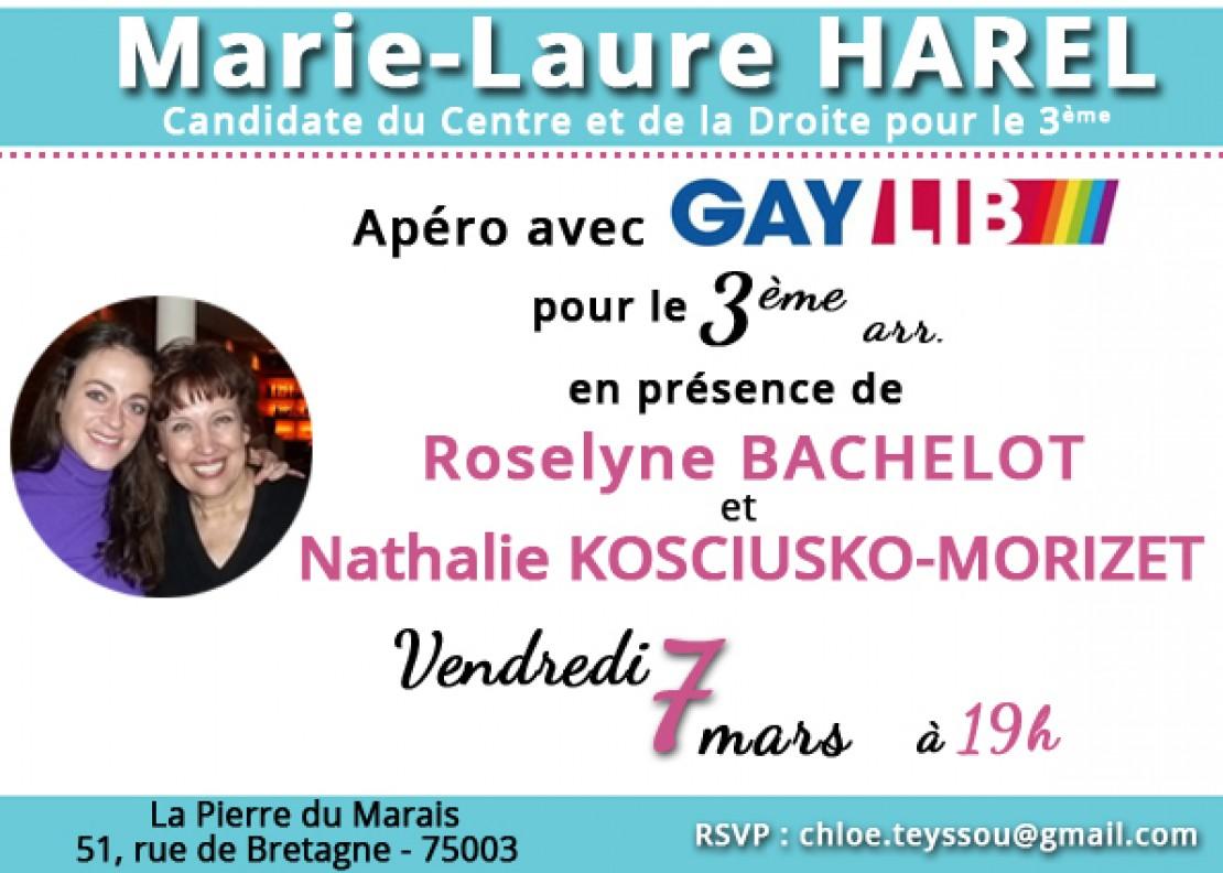 Municipales, apéro autour de Marie Laure Harel, Roselyne Bachelot et NKM