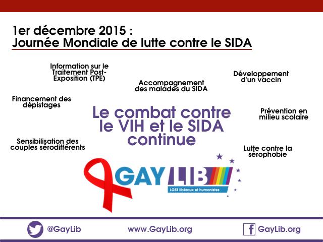 1er décembre, Journée Mondiale contre le Sida. Tous concernés, tous mobilisés.