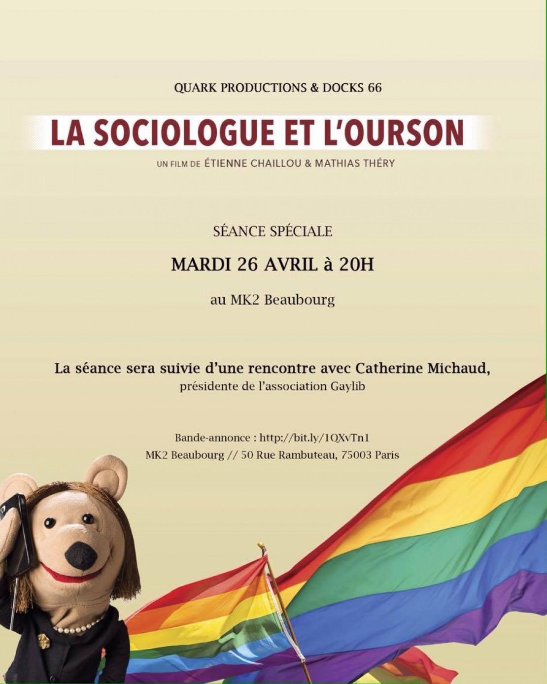 La sociologue et l'ourson – projection débat avec GayLib