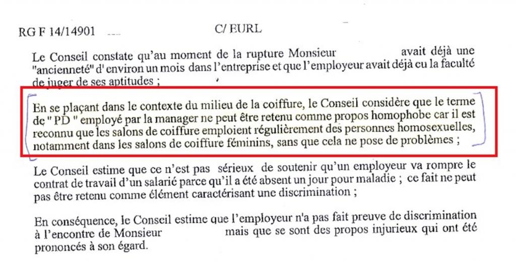 GayLib condamne le jugement des #prudhommes de Paris #homophobie