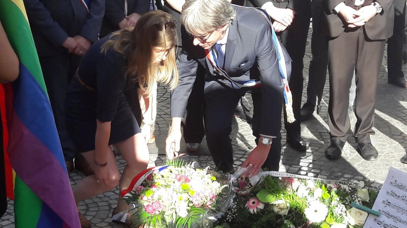Cérémonie des Oubliés de la Mémoire en hommage aux victimes de LGBTphobies à travers le monde.